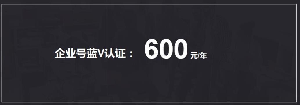 百家号蓝V认证600元一年